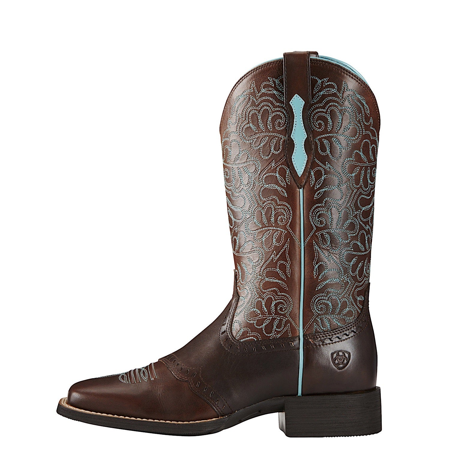 Ariat Brown and Turquoise Round Up Remuda Boots