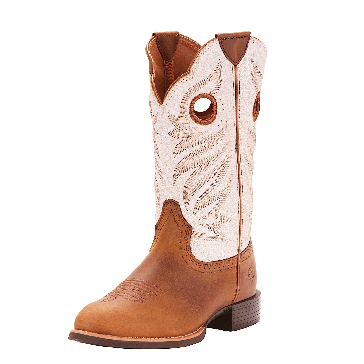 9ef9a2107fe Ariat Women's Round Up Stockman Crushed Peanut/Birch