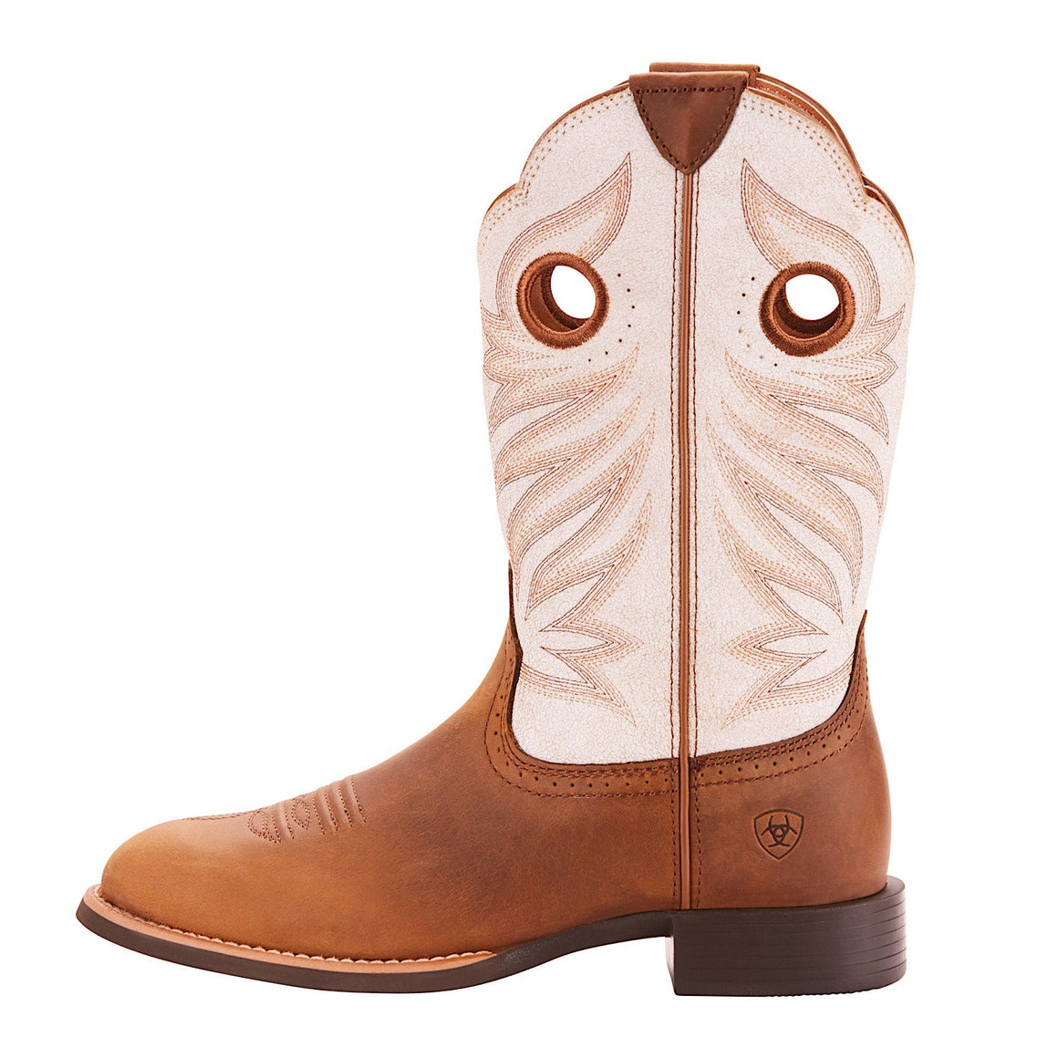 Ariat Women's Round Up Stockman Crushed Peanut/Birch