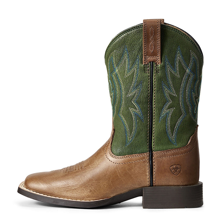 Ariat Kids Pace Setter Baked Cookie/Grass Green