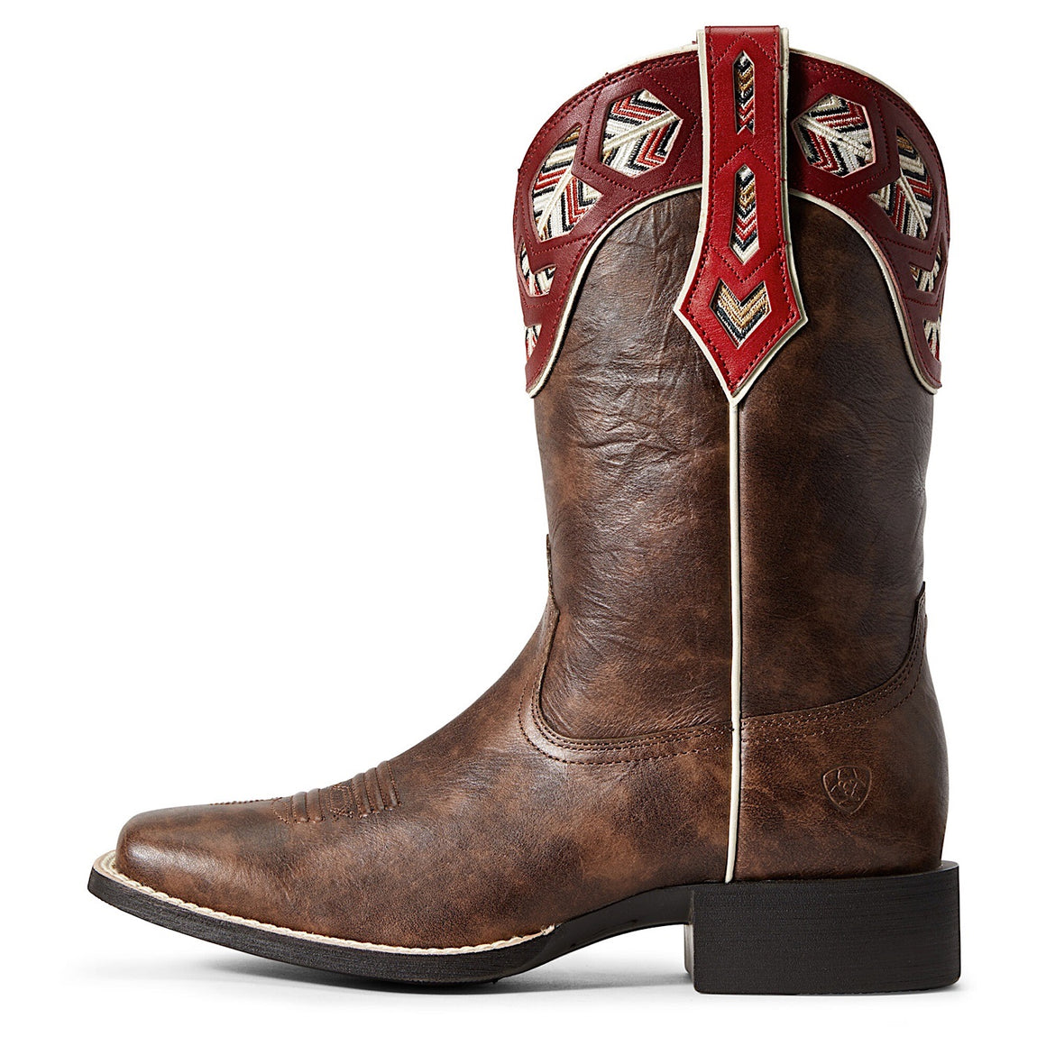 Ariat Women's Round Up Monroe Western Boot Brown Crunch