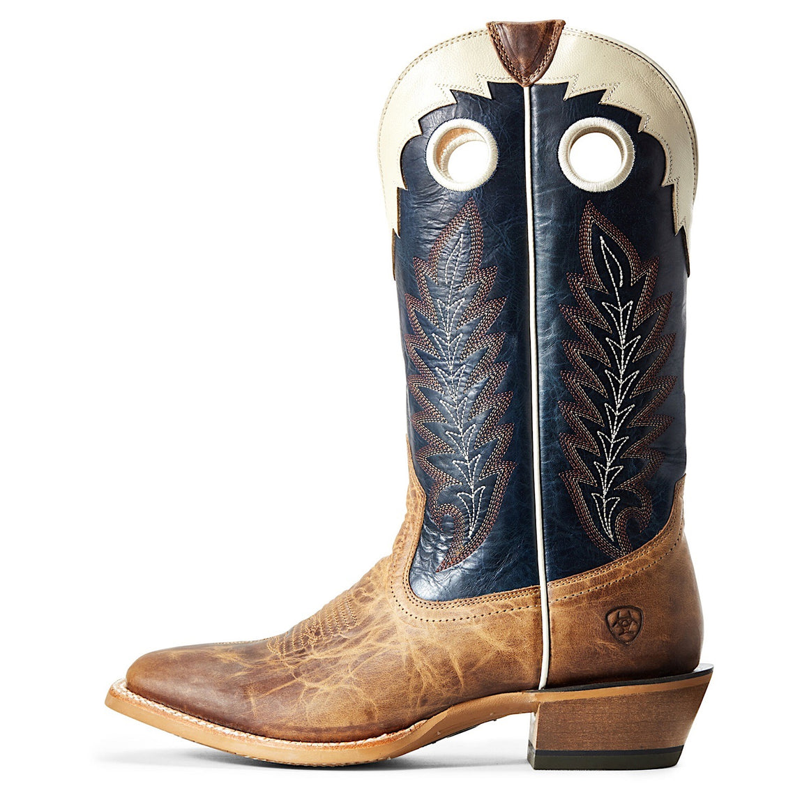 Ariat Mens Real Deal Western Boot Dusted Wheat/Navy