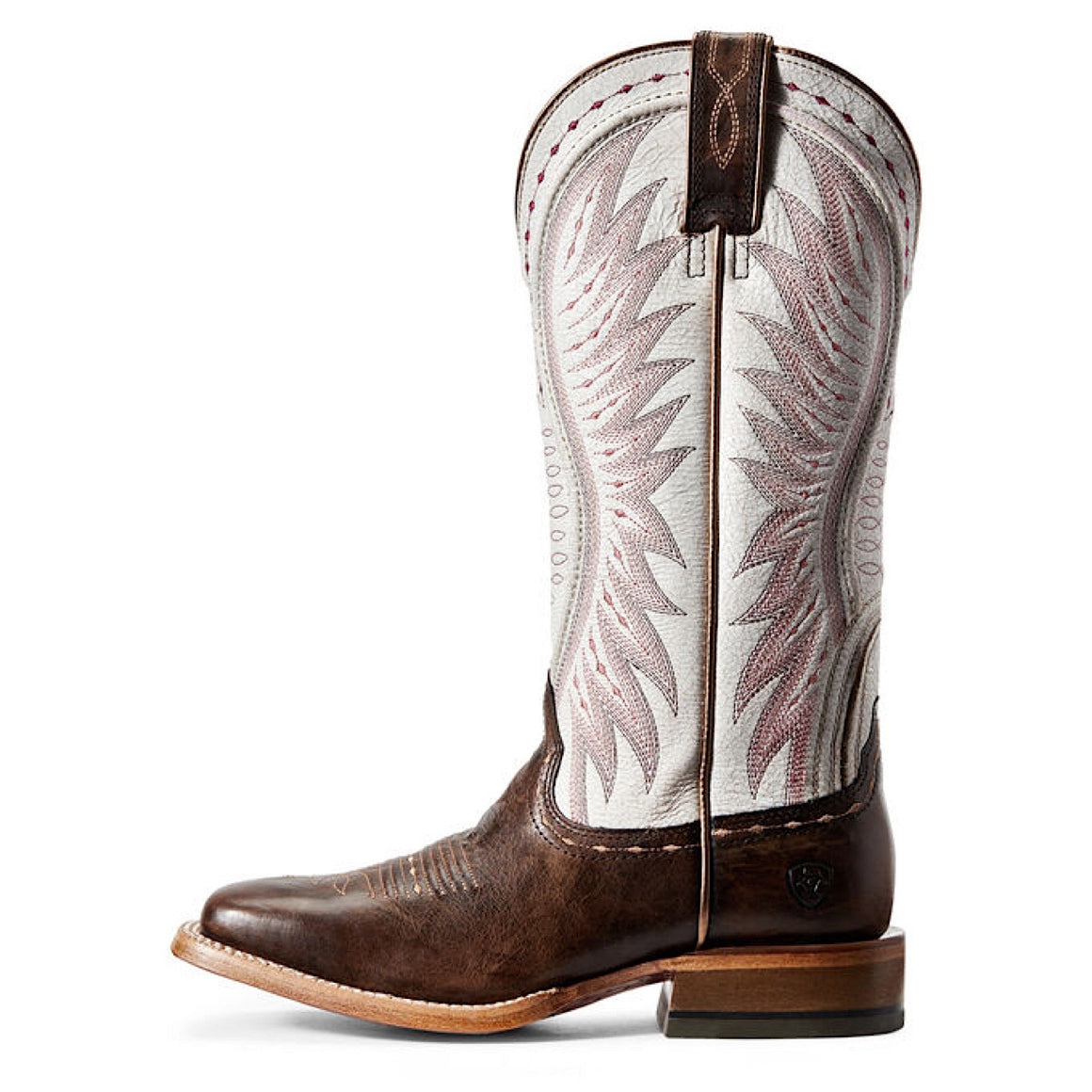 Ariat Women's Vaquera Western Boot Mustang Brown/Crackled White