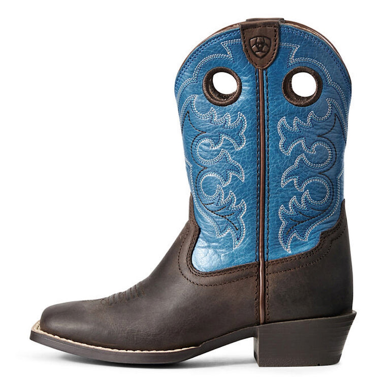 Ariat Kids Crossfire Western Boot Toffee Bean/Loyal Blue