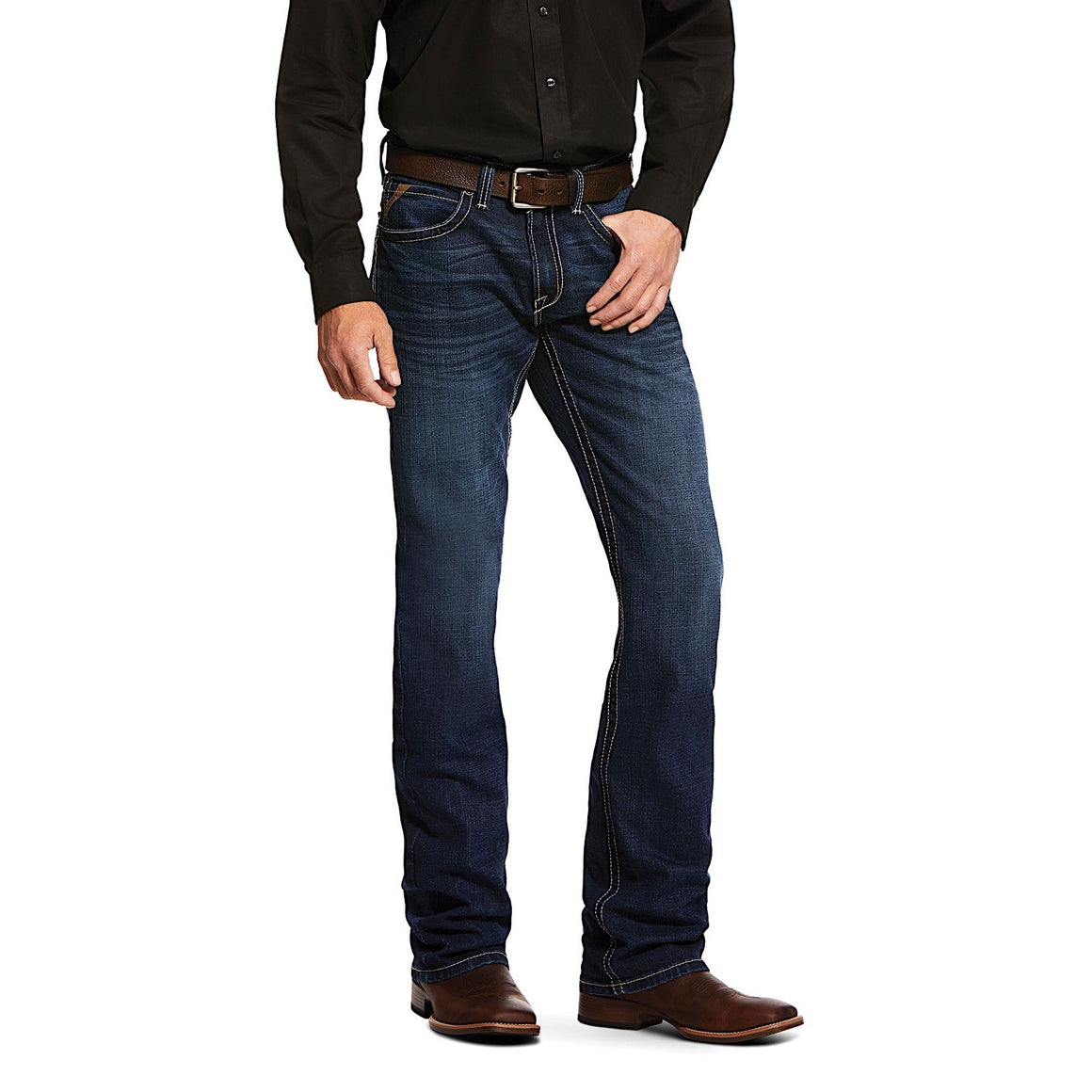 Ariat Mens Slim Stretch Wiley Stackable Straight Leg Jean Denali
