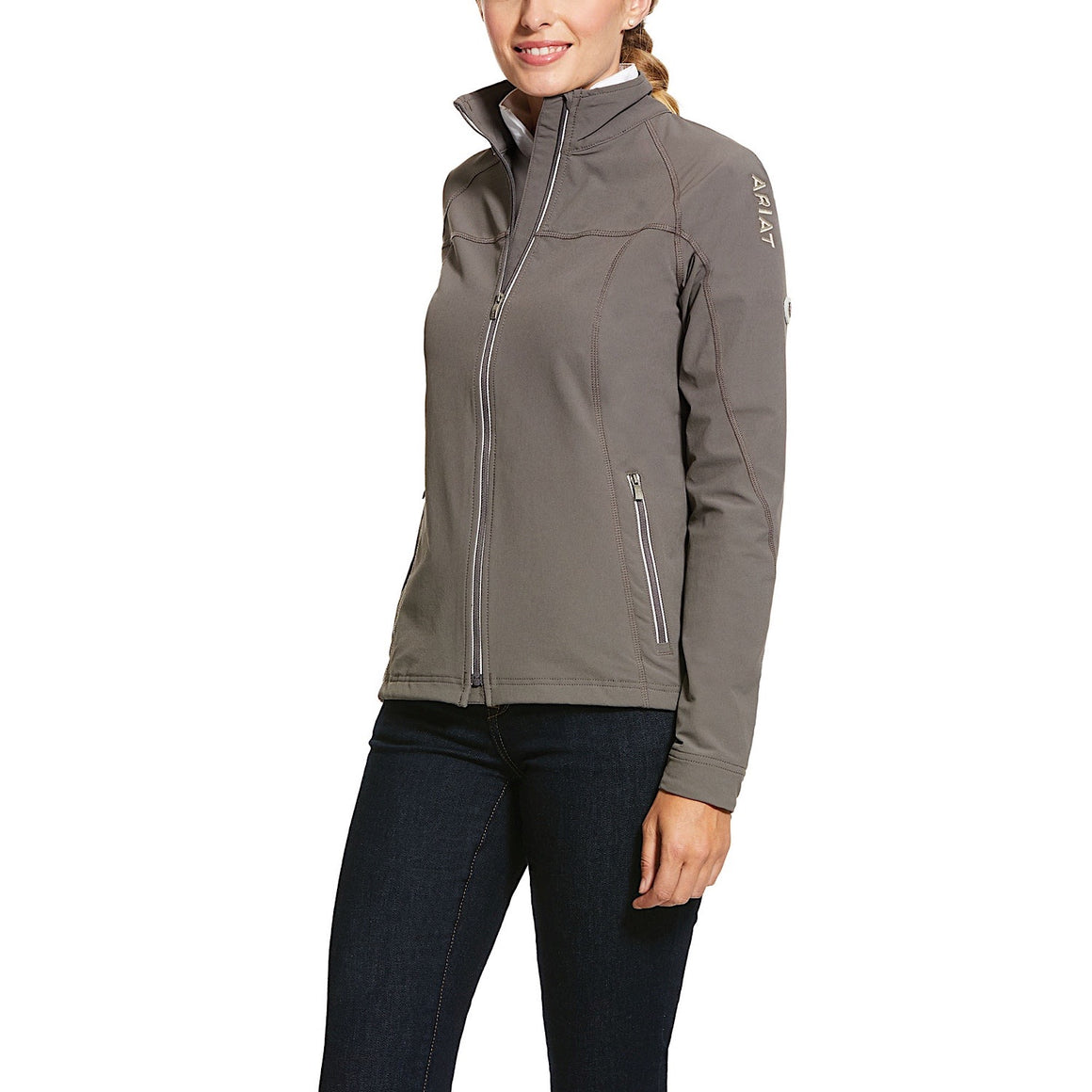 Ariat Womens 2.0 Soft Shell Jacket Plum Grey