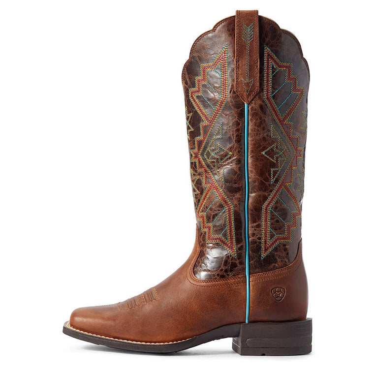 Ariat Women's Jackpot Western Boot Russet Rebel/Distressed coffee