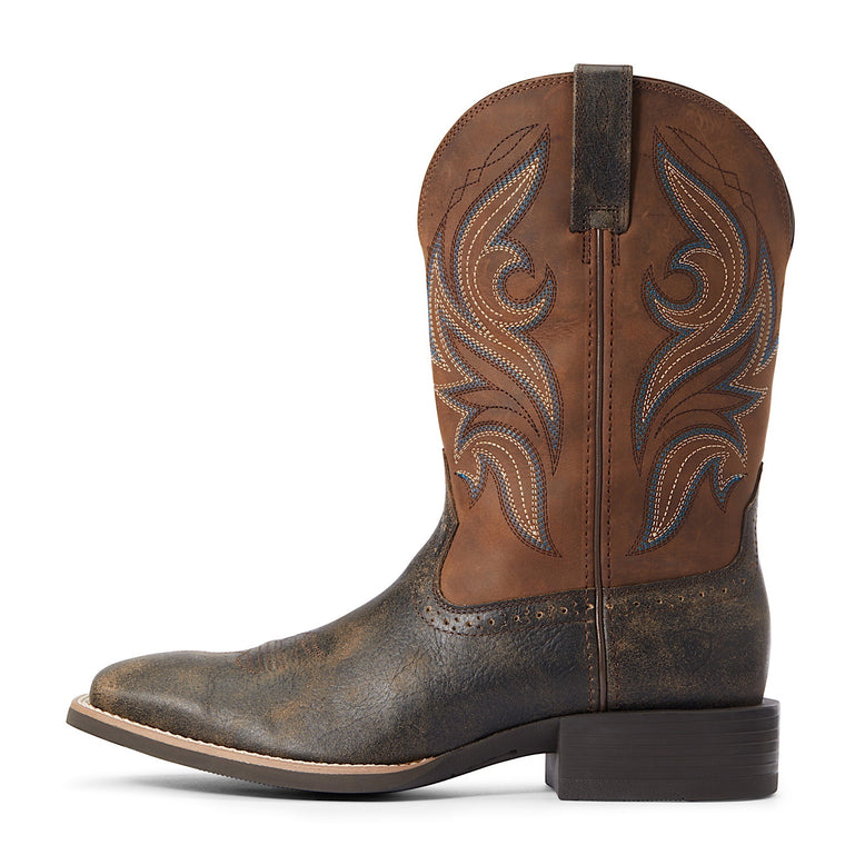 Ariat Mens Sport Knockout Brooklyn Brown / Distressed Brown