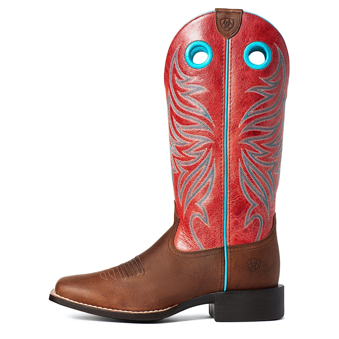 Ariat Womens Round Up Ryder Western Boot Barrel Brown/Red