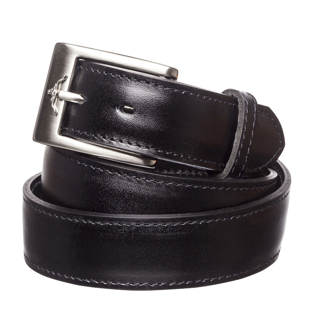 "R.M.Williams Black 1 1/4"" Yearling Dress Belt"