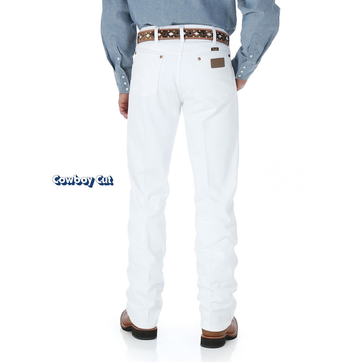 Mens Cowboy Cut Original Fit Jean, Prewashed White - 13MWZWI