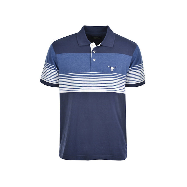 Pure Western Men's Jacob Polo Navy