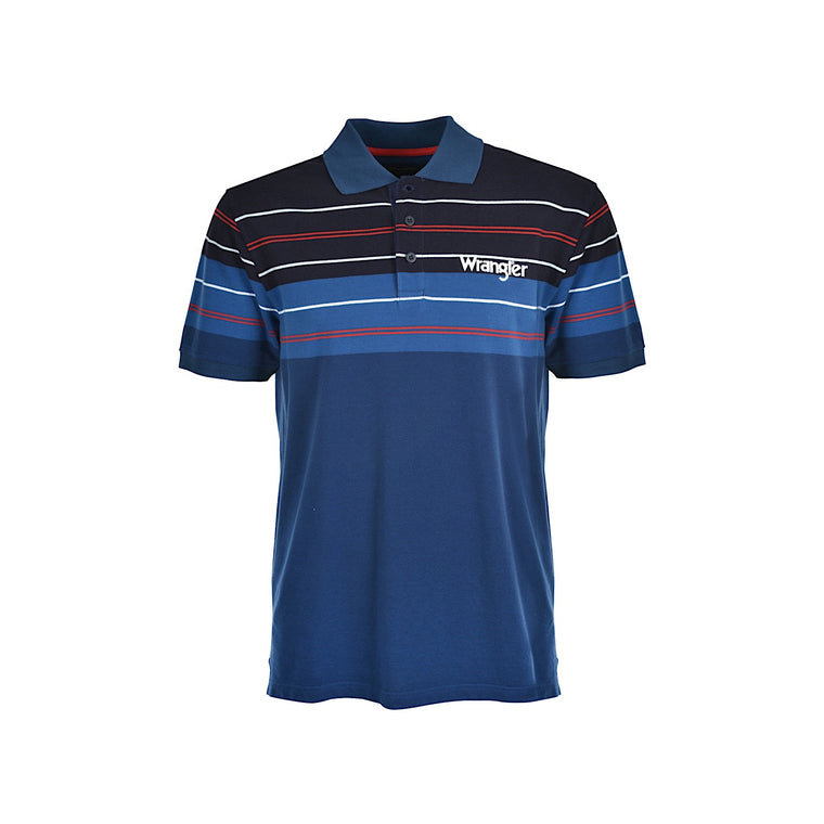 Wrangler Mens Stagg Polo Navy/Red
