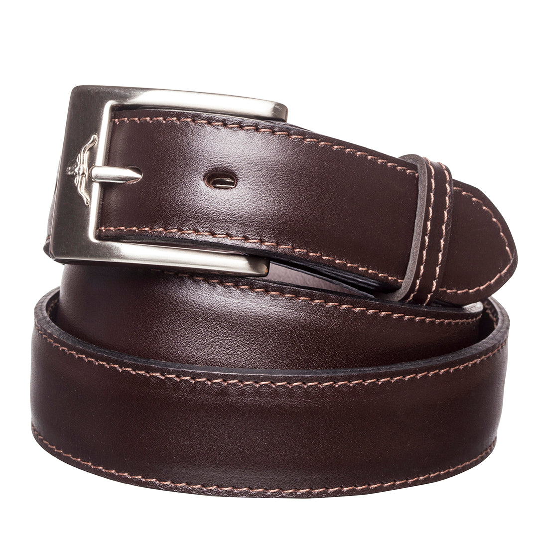 "R.M.Williams Chestnut 1 1/4"" Yearling Dress Belt"