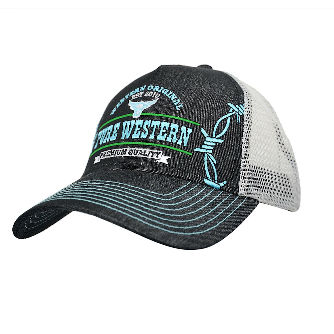 Pure Western Mens Scott Trucker Cap Black