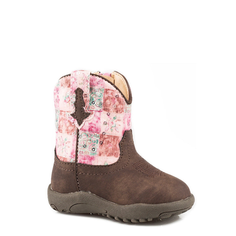 Roper INFANT Cowbabies Floral Shine Brown/Pink