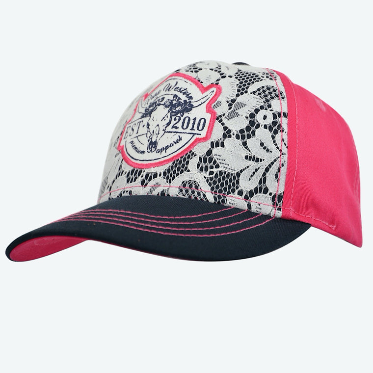 Pure Western Girls Mila Cap Pink/Navy