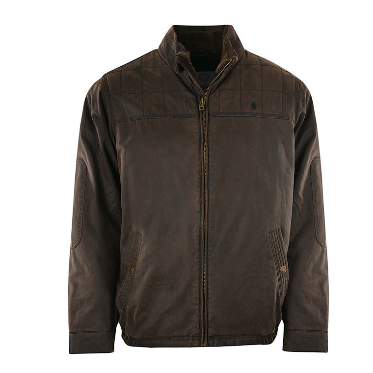 Thomas Cook Mens Becker Faux Oilskin Jacket Rustic Mulch