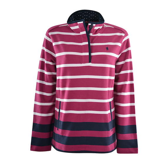 Thomas Cook Womens Epping Stripe Rugby Raspberry