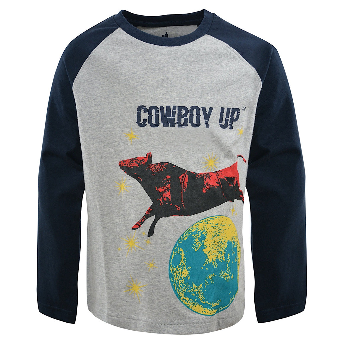 Thomas Cook Boys Cowboy Up Glow-In-The-Dark PJs Navy/Grey Marle