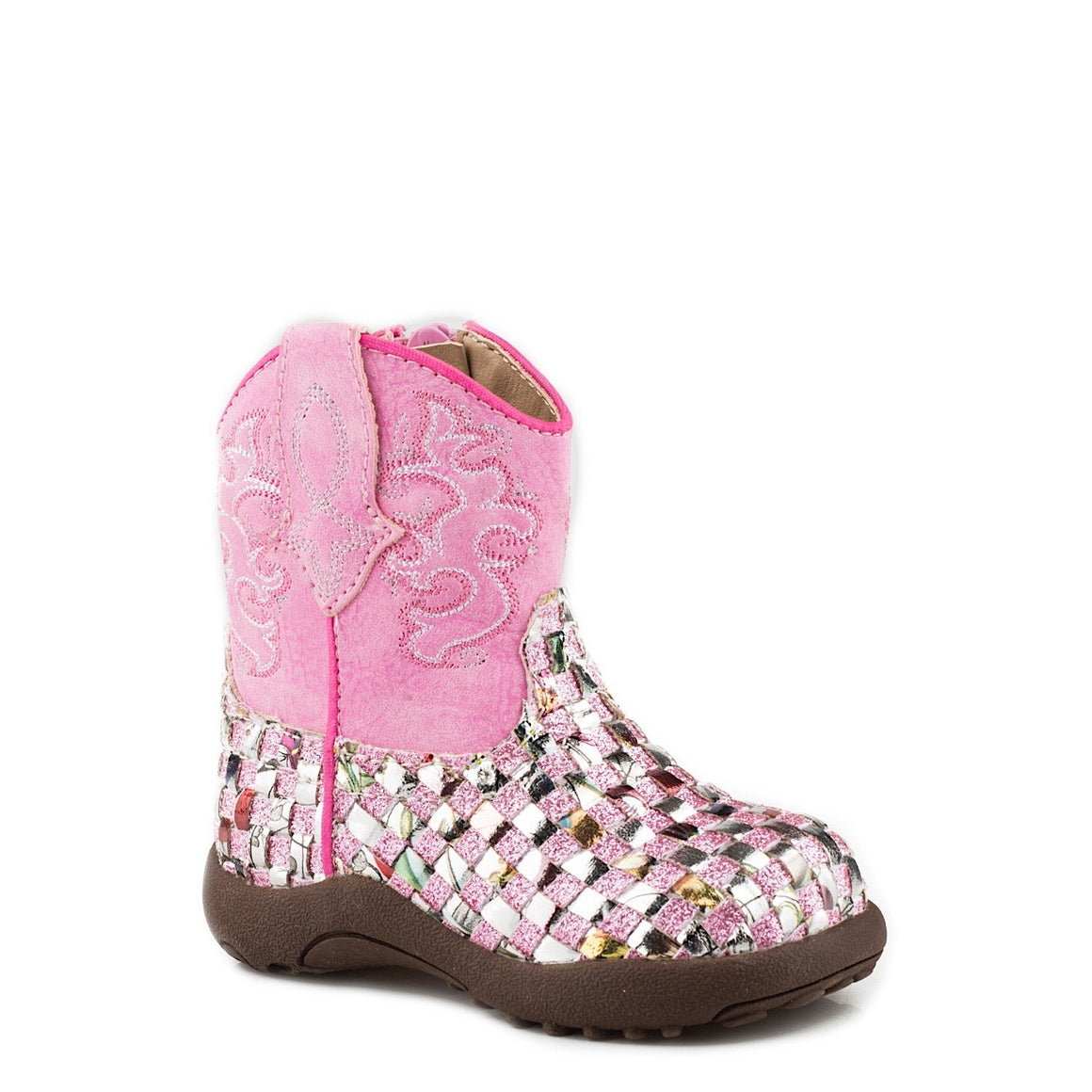 Roper INFANT Girls Western Braid Glitter Pink
