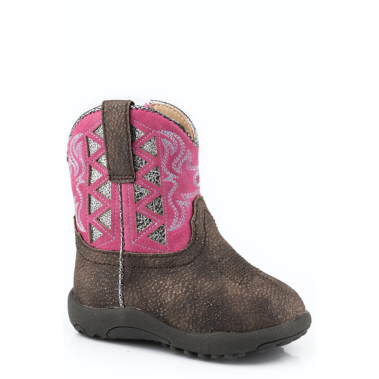 Roper INFANT Cowbaby Askook boots Brown/Pink