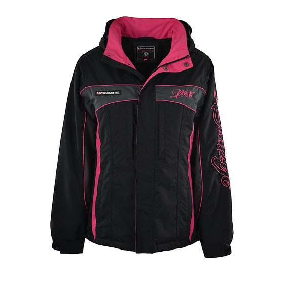 Bullzye Womens Carla Waterproof Jacket Black/Pink