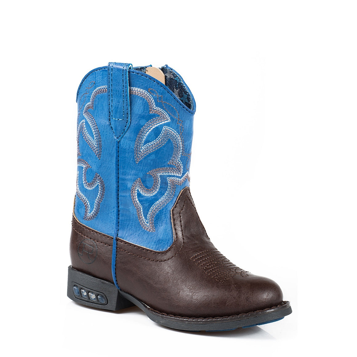 Roper TODDLER Lightning Western Boots Brown/Blue