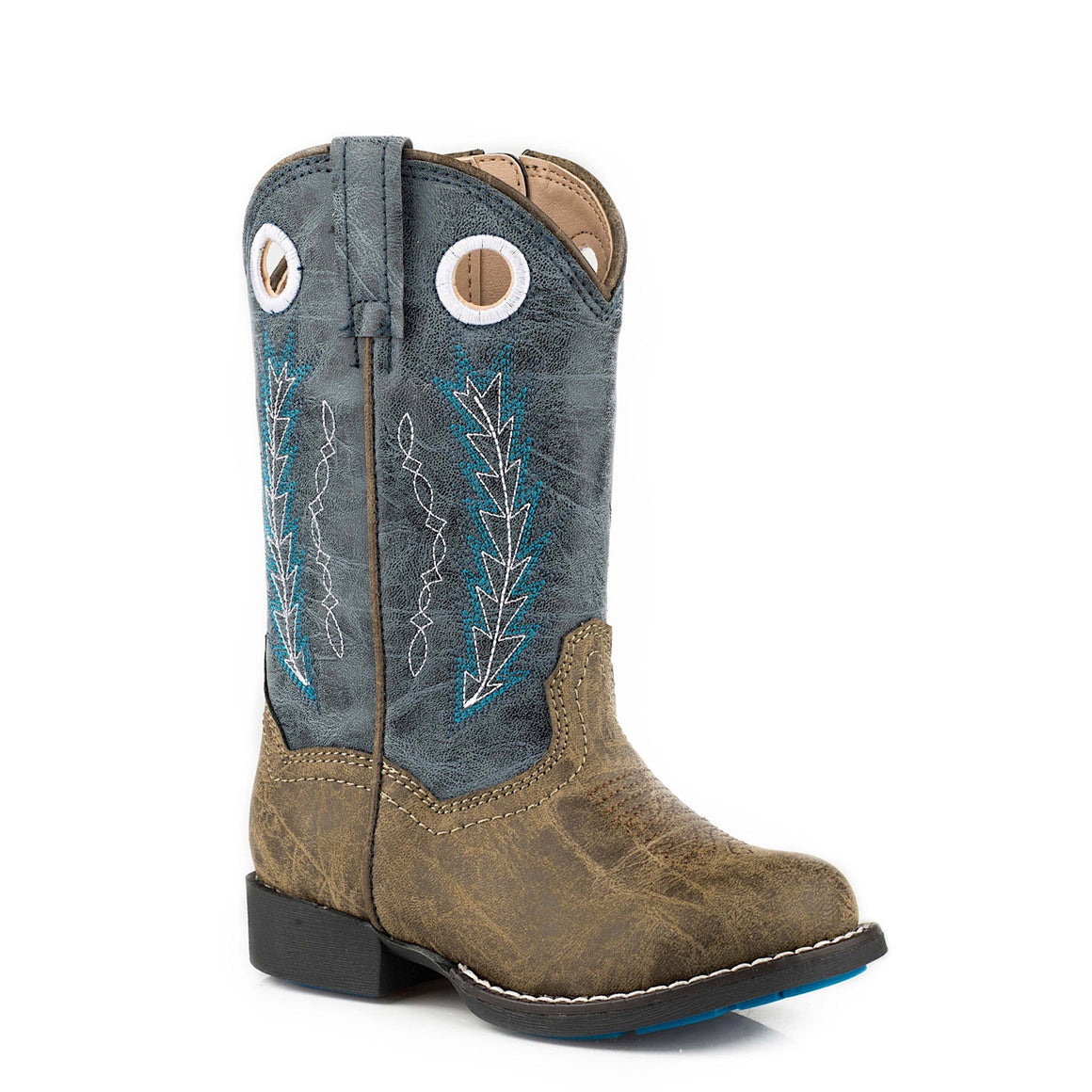 Roper TODDLER Hole In The Wall Western Boots Brown/Blue