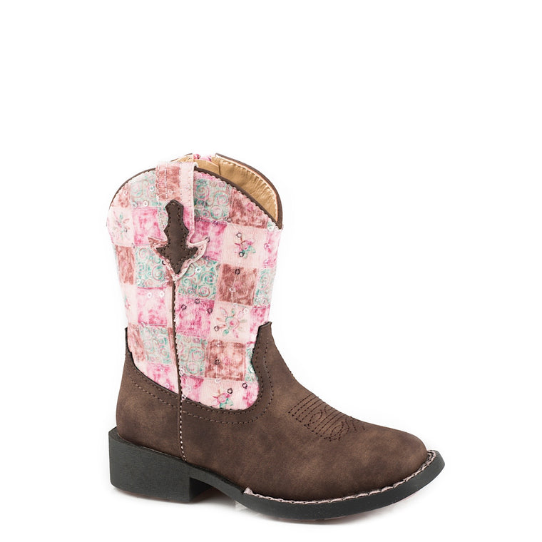 Roper TODDLER Floral Shine Brown/Pink
