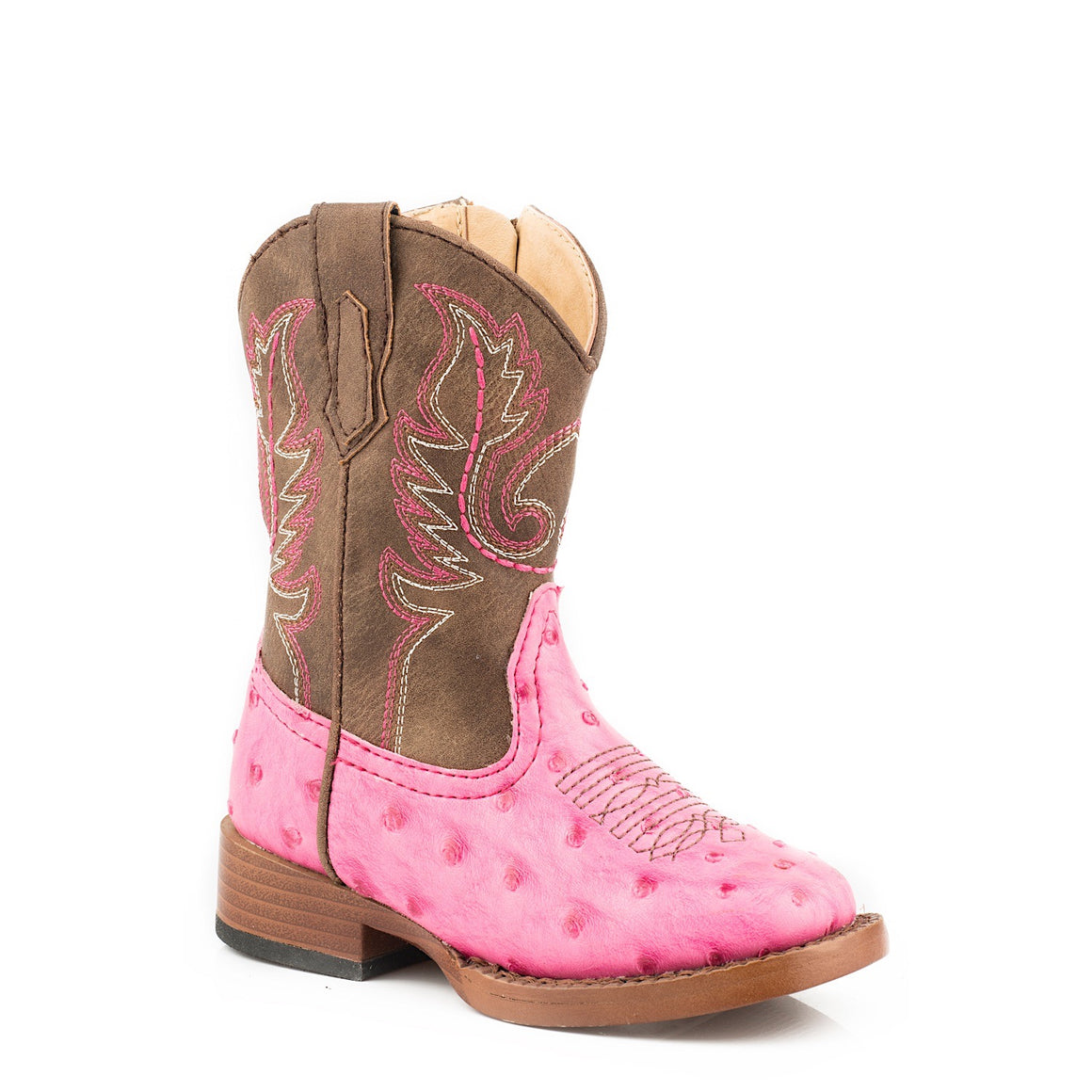 Roper TODDLER Annabelle Western Boots Pink/Brown