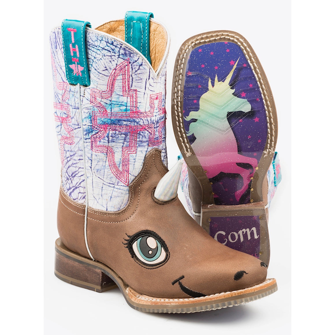 Tin Haul Kids Unicorn Magic Western Boots With My Ride Sole