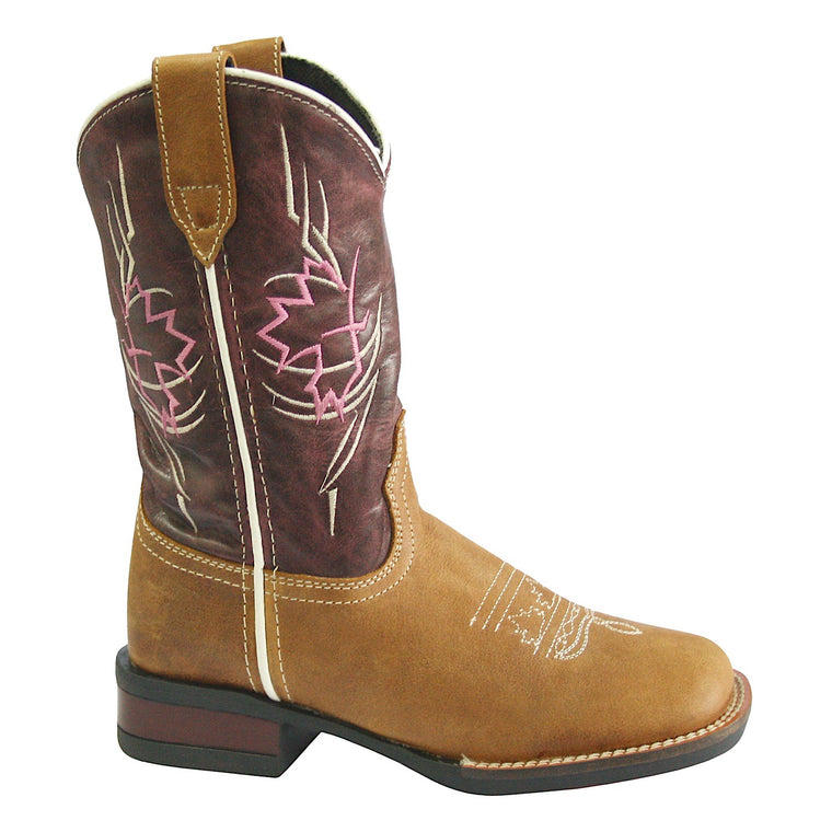 Roper Little Kids Tribal Brown/Magenta Boots