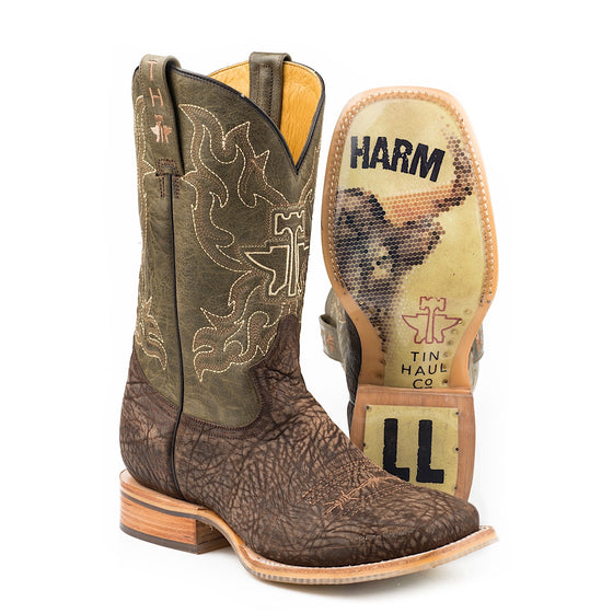 Tin Haul Mens Take No Bull Western Boots-Do No Harm Sole