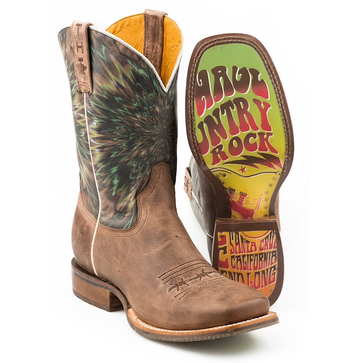 Tin Haul Mens Eye Bender Western Boots with TH Festival Sole