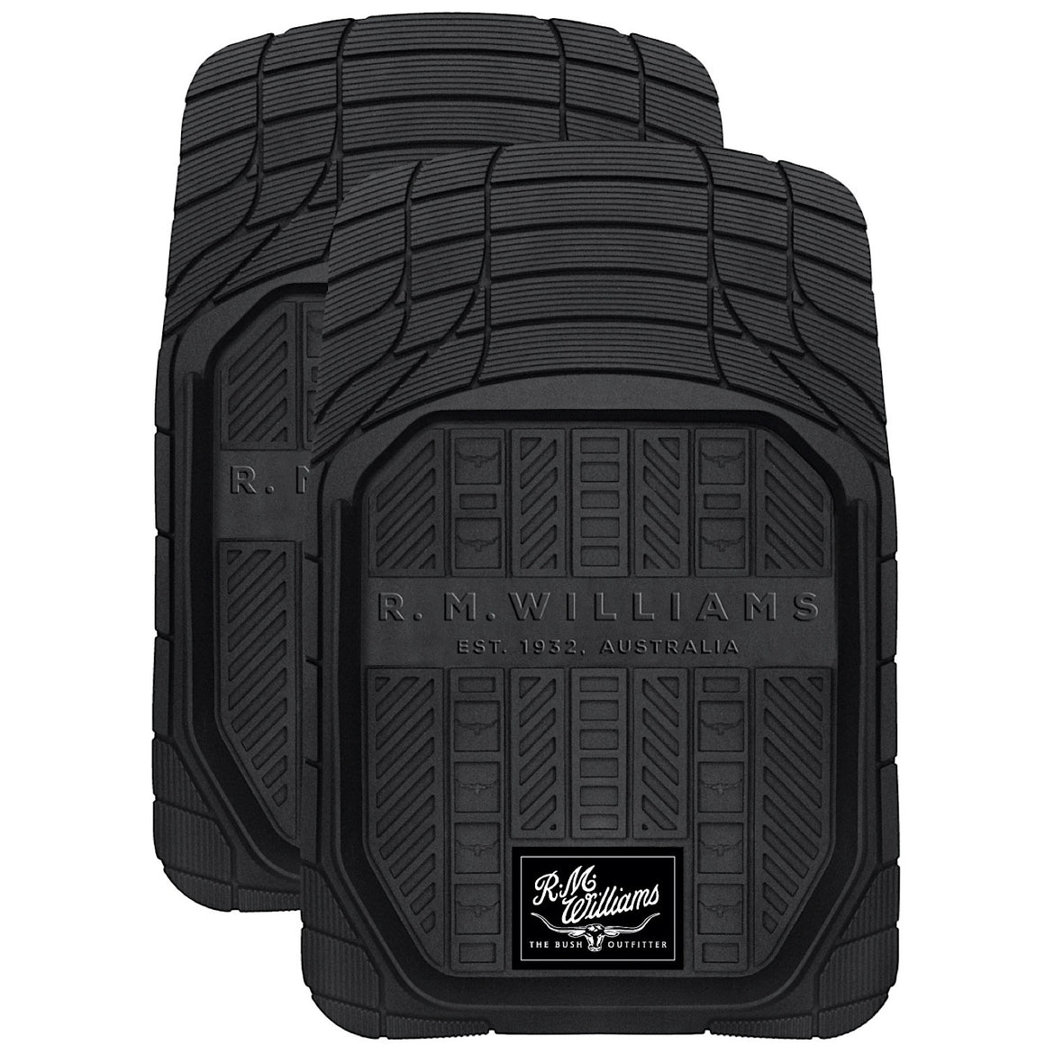 R.M.Williams Heavy Duty Dish Front Floor Mats Black