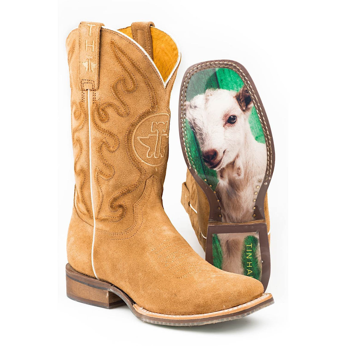 Tin Haul Womens Rough and Tough Western Boots With Baby Goat Sole
