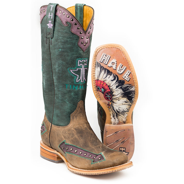 Tin Haul Womens Wild Rose Western Boots With Chief Sole