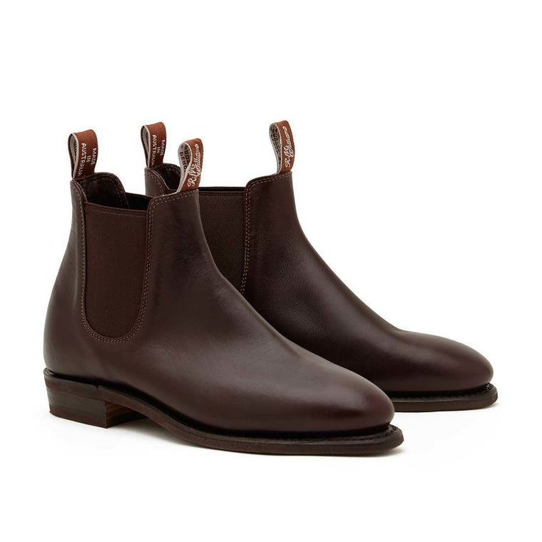 Womens Yearling Adelaide Rubber Sole Boots Chestnut