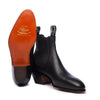 Hallet Yearling Boot Black Leather Screwed Sole