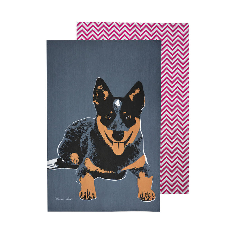 Thomas Cook Tea Towel Blue Heeler 2 Pack