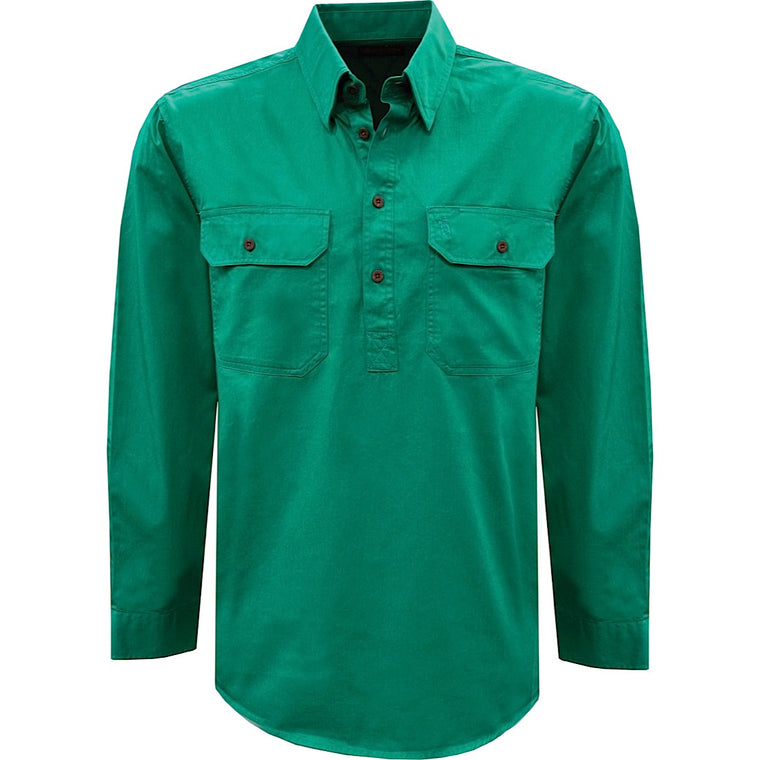Thomas Cook Heavy Drill 1/2 Plkt L/S 2 Pocket Shirt Bright Green