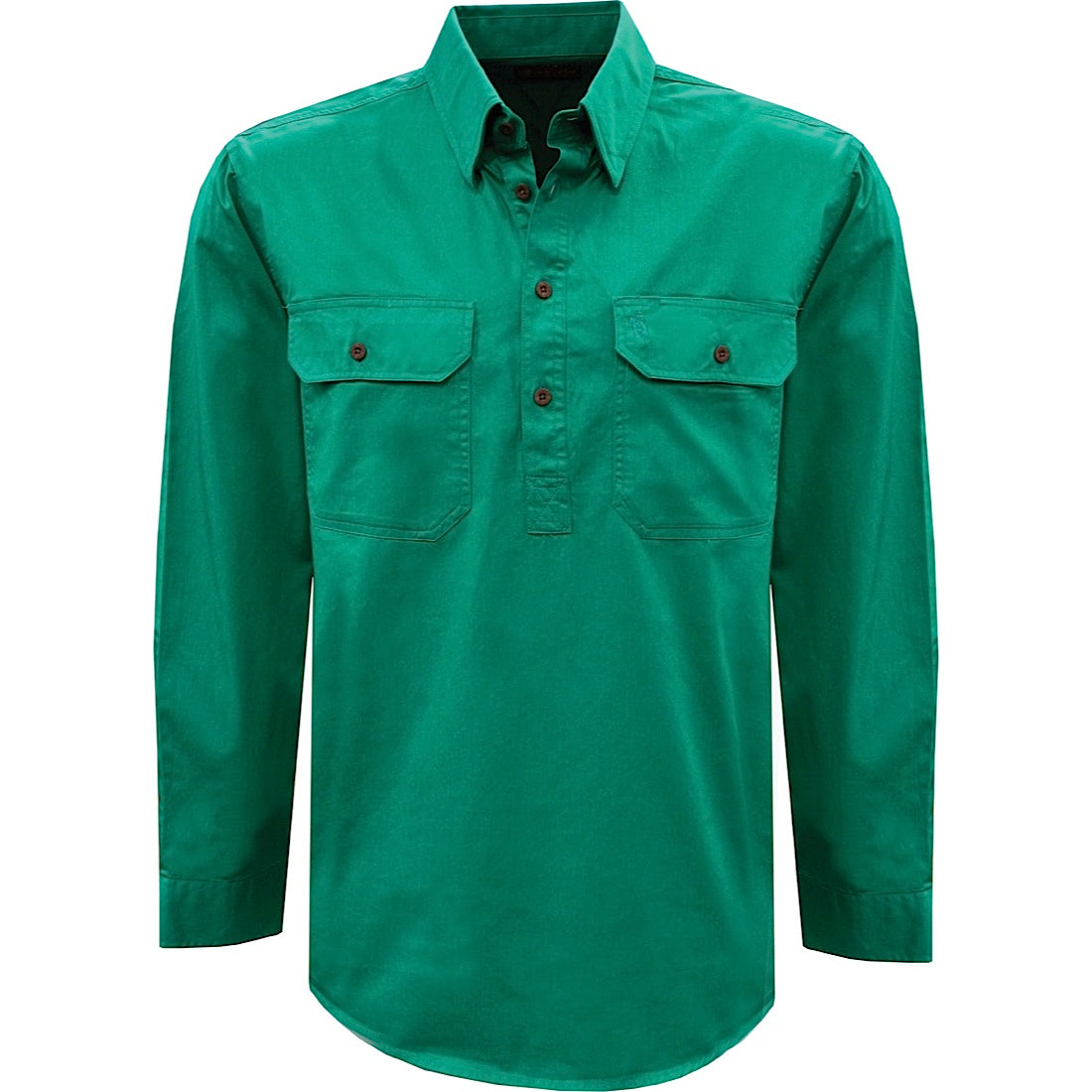 Thomas Cook Light Drill 1/2 Plkt L/S 2 Pocket Shirt Bright Green