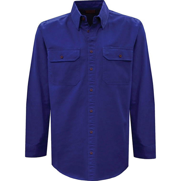 Thomas Cook Light Drill  L/S 2 Pocket Shirt Cobalt