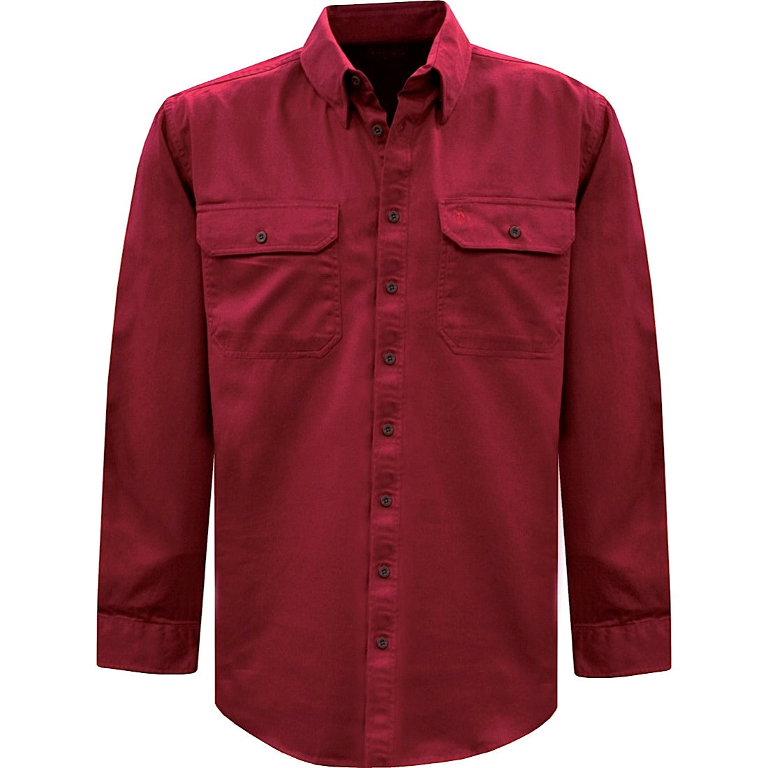 Thomas Cook Light Drill L/S 2 Pocket Shirt Red