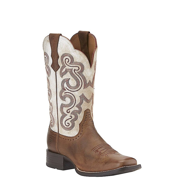 Ariat Womens Quickdraw Sandstorm/Distressed White