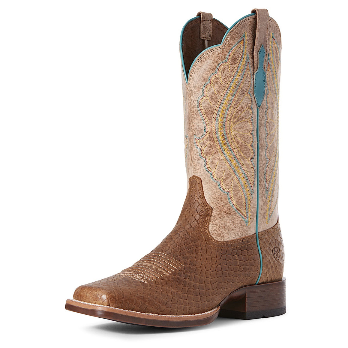 Ariat Womens Prime Time Western Boot Hollin Dragon/Jackel Tan