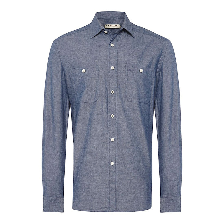 R.M.Williams Bourke Work Shirt Indigo Regular Fit *