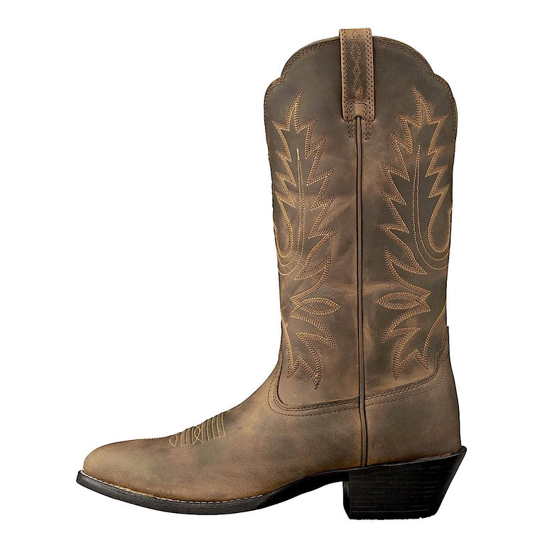 Ariat Womens Western R Toe, Distressed Brown