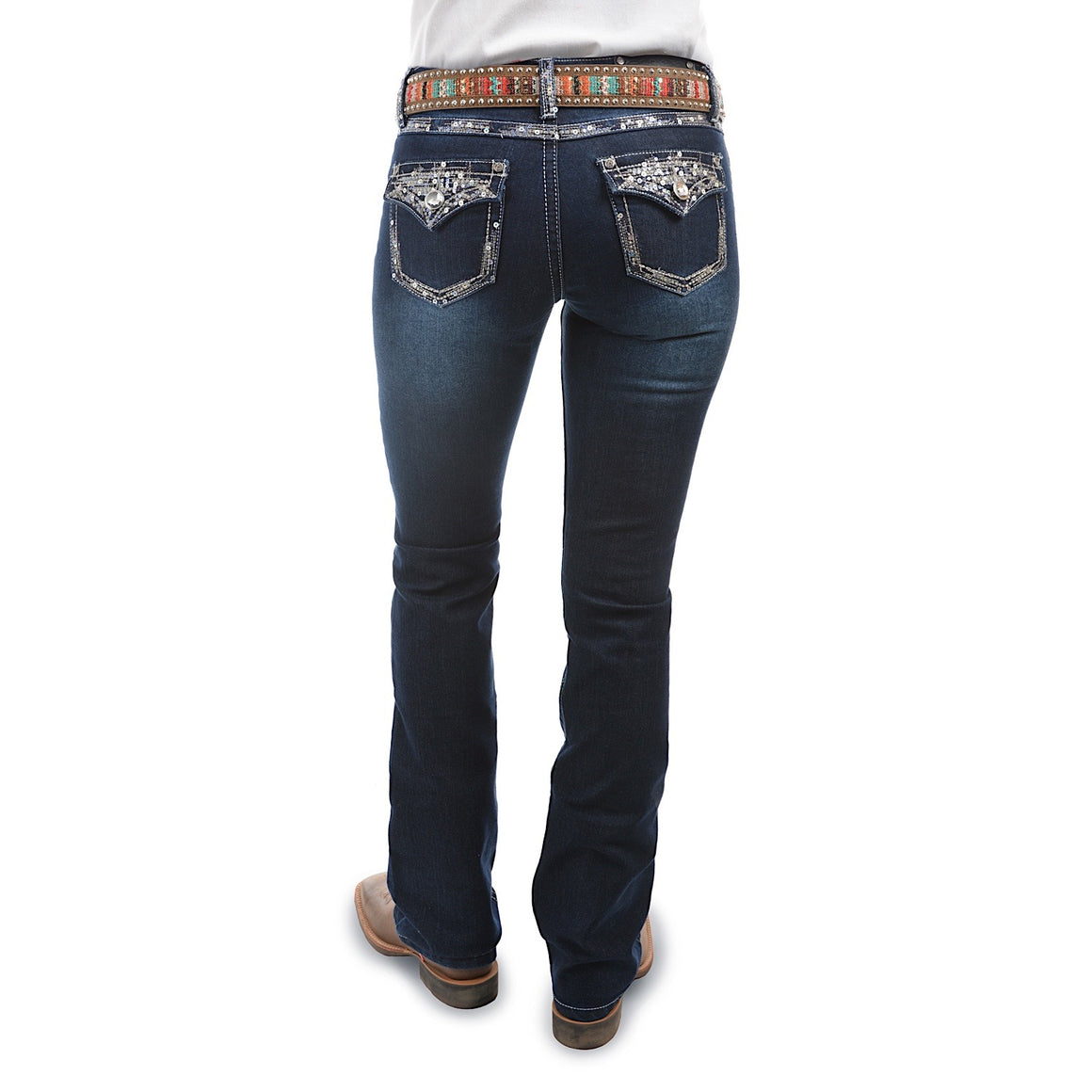 Pure Western Womens Taylor Boot Cut Jean 34 Leg Midnight